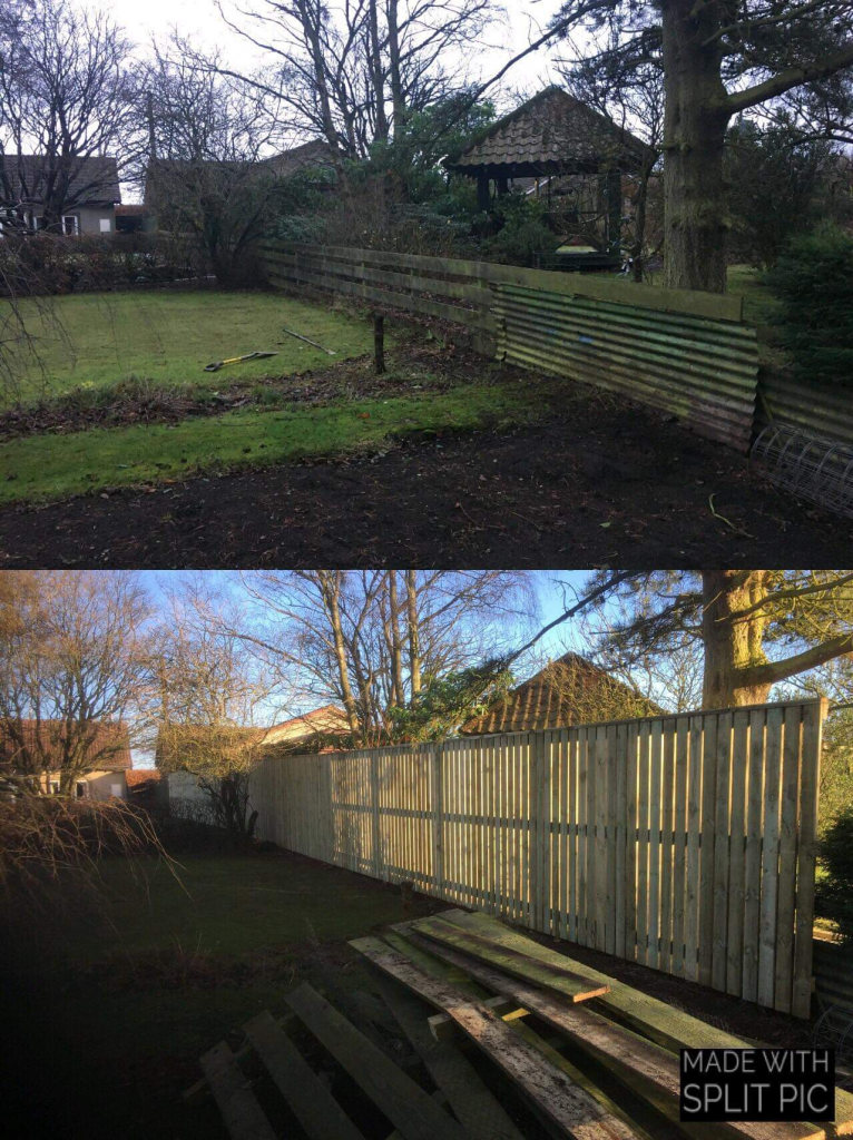 Fence before and after